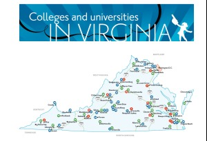 virginia colleges map